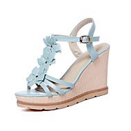 Women's Shoes Wedge Heel Peep Toe Sandals Office & Career/Dress/Casual Blue/Pink/Purple/White