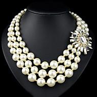 Importante Vintage/Romantico/Da serata/Da ufficio/Casual - di Diamantino/Perle di imitazione/Placcato oro