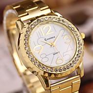 女性のファッションダイヤモンドの大理石のミラークォーツアナログスチールベルトブレスレットウォッチ