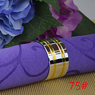 6pcs remorquage de cuivre 25mm d'or rond de serviette ronde