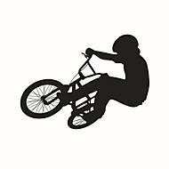 samolepky na zeď na stěnu, styl jezdit na kole pvc samolepky na zeď