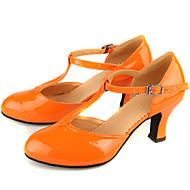 Zapatos de baile (Negro/Azul/Rosado/Otros) - Danza latina/Moderno - No Personalizable - Tacón grueso