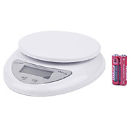 "1.7"" LCD Digital Kitchen Scale (5kg Max/1g Resolution) High Precision"