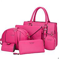 VUITTON ® Women PU Doctor Shoulder Bag / Tote / Clutch / Wallet / Card & ID Holder - White / Purple / Blue / Red / Black