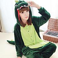 Kigurumi Pyjamas Dinosaurier Gymnastikanzug/Einteiler Halloween Tiernachtwäsche Dunkelgrün Patchwork Polar-Fleece Kigurumi Unisex