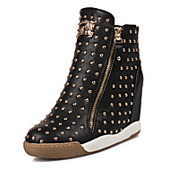 Women's Shoes Wedge Heel Round Toe Fashion Sneakers with Rivet More Colors available