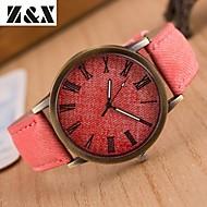 Women's Fashion Diamond Colorful Strip Design Quartz Analog Denim Cloth Band Wrist Watch(Assorted Colors) Cool Watches Unique Watches