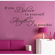 Words & Quotes Wall Stickers Plane Wall Stickers Decorative Wall Stickers,PVC Material Removable / Washable Home Decoration Wall Decal