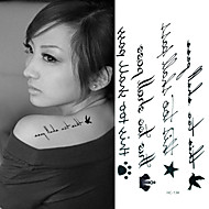 English Letter Line Tattoo Stickers Temporary Tattoos(1 Pc)