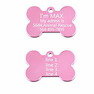 Personalized Anodized Aluminum Dog ID Tag for Pet (Assorted Colors)