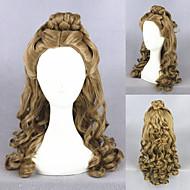 22inch parrucca medio cinderella dell'onda lunga marrone anime cosplay parrucca di capelli sintetici lolita cs-250a