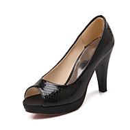 Women's Shoes Cone Heel Peep Toe Sandals Dress Black / Pink / Silver