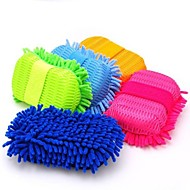 szuper tiszta mikroszálas mosás / autóápolási tisztító kefe tisztító eszközök szivacs véletlenszerű szín