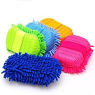 Super ferramentas de limpeza de microfibra limpa lavar / cuidado de carro escova esponja de limpeza cor aleatória