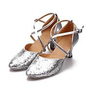 De las mujeres espumosos brillo Cross Stripe Modren Zapatos de baile (más colores)