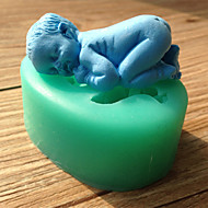 Silicone Cake Mold Fondant Decorating Sleeping Baby Chocolate Mold Random Color