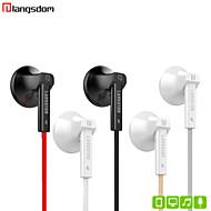 q5 langsdom auricular plana control de volumen del auricular con micrófono para el iphone 6/6 plus galaxia s4 s5