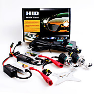 12V 55W H4 High / Low 6000K Slim Aluminum Ballast HID Xenon Headlights Kit