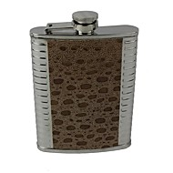 Outdoor Simulation Crocodile Leather Wine Pot 8Oz