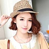 Women Basketwork Hats WithVOutdoor Headpiece