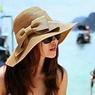 Capacete Chapéus Ocasião Especial/Casual/Ao ar Livre Cestaria Mulheres Ocasião Especial/Casual/Ao ar Livre 1 Peça