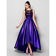 TS Couture® Formal Evening Dress - Regency Plus Sizes / Petite A-line Bateau Asymmetrical Stretch Satin