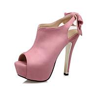 Feminino-Saltos-Conforto-Salto Agulha-Rosa Roxo Vermelho-Flanelado-Casamento Social Festas & Noite