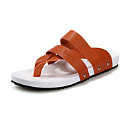 Men's Shoes Casual Leather Sandals Blue/Yellow/White/Orange