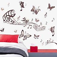 nástěnné samolepky lepicí obrazy na stěnu ve stylu hudby motýl PVC samolepky na zeď