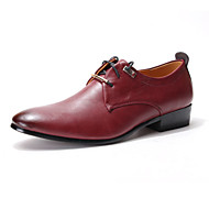 Men's Shoes Wedding/Office & Career/Party & Evening Patent Leather Oxfords Black/Brown/Burgundy