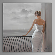 Oil Painting Modern Abstract People Hand Painted Canvas with Stretched Frame