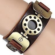 Unisex Weastern Style Vintage Chain Bracelet Faux Leather