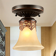 Max 60W Flush Mount ,  Vintage / Country / Island Painting Feature for Mini Style MetalLiving Room / Bedroom / Dining Room / Kids Room /