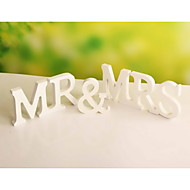 "Wedding Décor ""MR&MRS"" Freestanding Wood Wooden Simple Letters White Alphabet  Party Decorations"