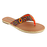 Women's Shoes Fabric Flat Heel Slingback/Flip Flops/Round Toe Sandals/Slippers Casual More Colors Available