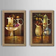 Handgeschilderde StillevenModern Twee panelen Hang-geschilderd olieverfschilderij For Huisdecoratie