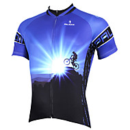 PALADIN Bike/Cycling Jersey / Tops Men's Short SleeveBreathable / Ultraviolet Resistant / Quick Dry / Lightweight Materials / Back Pocket