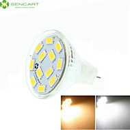 7W GU4(MR11) Spot LED MR11 12 SMD 5730 450-550 lm Blanc Chaud Blanc Froid Blanc Naturel Gradable Décorative DC 12 AC 12 AC 24 DC 24 V