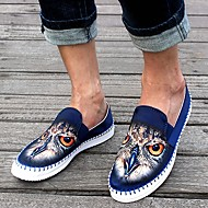 Men's Shoes Casual Canvas Loafers Black/Blue/Burgundy