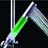 Green-Color ABS  LED Color Changing Hand Shower