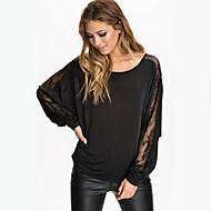 Women's Casual/Lace Inelastic Long Sleeve Regular T-shirt (Chiffon)