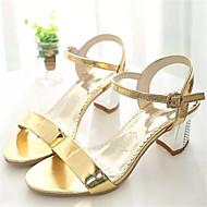 Women's Shoes Chunky Heel Open Toe Sandals Dress Silver/Gold