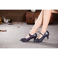 Women's Dance Shoes Belly/Latin/Samba Satin/Synthetic Cuban Heel