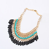 Women's Alloy/Acrylic Fashion Drops Tassel Necklace Party/Causal