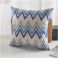 estilo moderno azul flor padrão de algodão / fronha decorativo linho