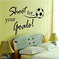 Wall Stickers Wall Decals Style Shoot English Words & Quotes PVC Wall Stickers