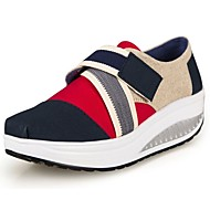 Women's Shoes Canvas Wedge Heel Platform/Crib Shoes Athletic Shoes Office & Career/Athletic/Casual Blue/Red
