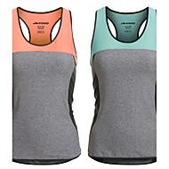 mulheres nylon spandex inserção da malha logotipo reflexivo esportes respirável ginásio singlet executando