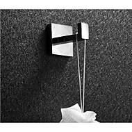 Bathroom Stainless Steel Robe Hook Mirror Polished Square Single Towel Hook