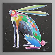 peinture à l'huile moderne main de lapin abstraite toile avec cadre étiré peint